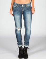 Destructed Womens Skinny Jeans -