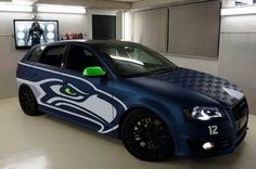 I want to SO paint my Car Seattle Seahawks colors! TOO GREAT FOR WORDS!!! Seahawks Audi!