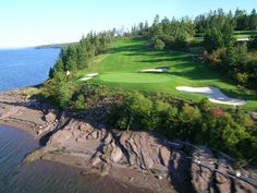 The Algonquin Golf Course on Passmaquody Bay, St. Andrew's, NB The view out to sea from the tee on this par 3 is breathtaking.