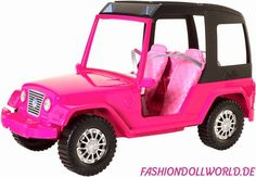 Barbie Sisters' Fun Day Cruiser by Mattel, 2015 - Seats two dolls in the front and two small dolls in the back.