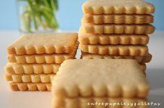 RECETA MASA DE GALLETAS DE MANTEQUILLA   Entre papeles y galletas. Butter cookies.