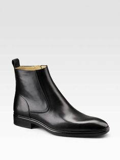the Bally Dress Leather Ankle Boots on Wantering