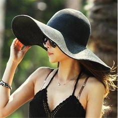 Home Prefer Womens Straw Sun Hat UPF50+ Wide Brim Floppy Hat Summer