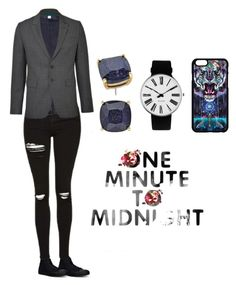 """""""Androgyny the Sequel"""" by sanestyle ❤ liked on Polyvore featuring Converse, Kate Spade and Rosendahl"""