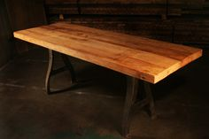 Reclaimed Beech wood, sourced from a Wisconsin Dairy Farm.