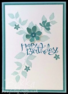 Stylish Blue Birthday Card using Summer Silhouettes from Stampin' Up!