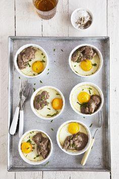 Receta 462: Huevos al plato con higaditos de pollo » 1080 Fotos de cocina