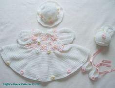 Crochet Pattern Patterns Girl Baby Dress