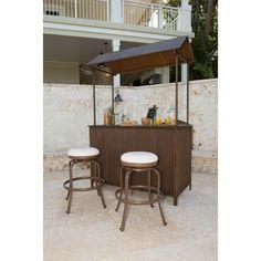 Elegant Portable Bar and Stools