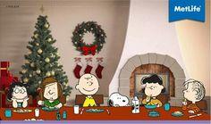 Metlife Peanuts Christmas, Christmas Tree, Metlife Snoopy, Bowser, Holiday Decor, Advertising, Character, Art, Snoopy Wallpaper