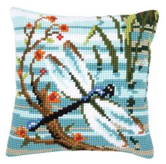 Dragonfly Cushion Front Chunky Cross Stitch Kit | sewandso