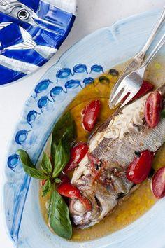 pesce all'acqua cotta |  Restaurant Il Riccio,Anacapri.