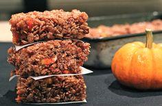 Candy Corn Rice Crispy Treats - with chocolate!