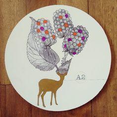 """ Altura razonable "" pieza única #Himallineishon #art #homedecor #illustration #deer #animal"