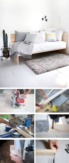 Build your own bed: 12 unique DIY bed and bed frame ideas - paul - Design Rattan Furniture Teen Girl Bedding, Diy Bett, Garden Sofa, Diy Sofa, Kitchen Models, Childrens Beds, Rattan Furniture, Cozy Bed, E Design