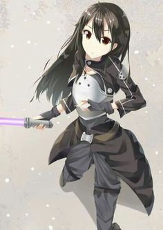 Kirito from Sword Art Online 2 in the game Gun Gale Online. The game made him a boy with girlish hair!!!