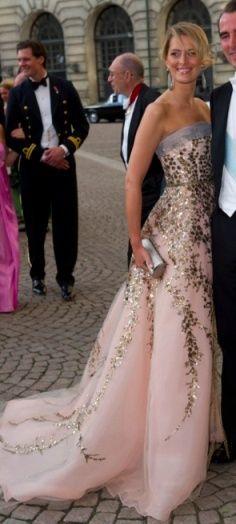 Princess Tatiana of Greece and Denmark in Carolina Herrera.
