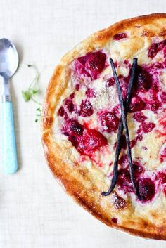 We are drooling over this baked raspberry pancake.