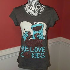 Graphic Tee by Mighty Fine size XL Cookie Monster Graphic Tee by Mighty Fine size XL Cookie Monster Mighty Fine Tops Tees - Short Sleeve
