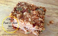 20 Lunch Box Ideas & Recipes - including this chewy fruit seed slice