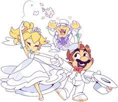 Mario and peach get married