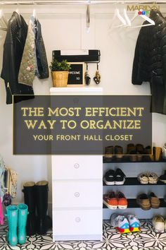 When everything has its place, no time goes to waste. Follow @chichihome's tips for organizing your front hall closet efficiently to take the some of the stress out of your family's daily routine.