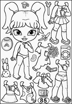 Coloring Pictures For Kids, Coloring Sheets For Kids, Cute Coloring Pages, Barbie Paper Dolls, Vintage Paper Dolls, Box Template Printable, Paper Art, Paper Crafts, Pony Drawing