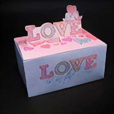 Gift Box | Canon PIXMATown Card Templates, Valentines Day, Decorative Boxes, How To Apply, Festive, Canon, Gifts, Holidays, Valentine's Day Diy