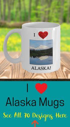 Denali Mug | Alaska Gift Mug | Alaska State Gift | Alaska Coffee Mug This is the perfect gift for the person who loves the state of Alaska.