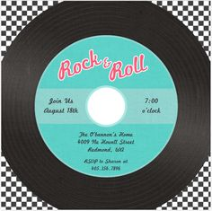 50's Party Invitation. Could make a dance ticket in this format