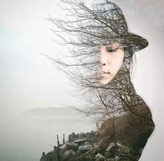 Stunning double exposure in Photoshop Photography Projects, Creative Photography, Photography Tips, Portrait Photography, Photography Flowers, Digital Photography, Forest Photography, Photography Backgrounds, Photography Lighting