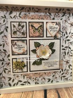 Good Morning Magnolia Sampler - Create Something Beautiful! Box Frame Art, Shadow Box Frames, All Paper, Paper Art, Paper Crafts, Scrapbooking, Scrapbook Pages, Crafts To Sell, Diy Crafts