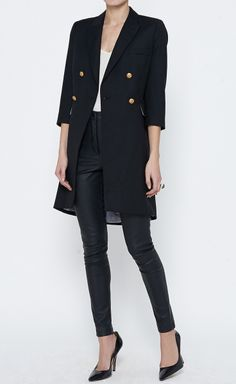 Boy. by Band of Outsiders Black Coat | VAUNTE