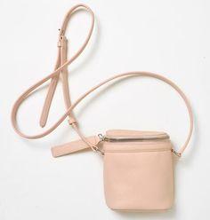Kara pebble leather silver zip stowaway bag