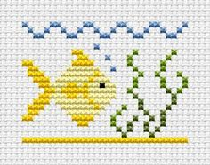cross stitch fish - Cerca con Google