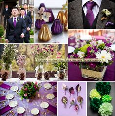 green and silver wedding centerpieces | ... ideas for a rich, Autumnal colour palette of plum, green and gold