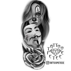 Tattoos Discover New Tattoos 2020 - Skull Girl Tattoo Girl Face Tattoo Skull Tattoos New Tattoos Body Art Tattoos Girl Tattoos Clown Tattoo Full Arm Tattoos Hand Tattoos For Guys Skull Girl Tattoo, Girl Face Tattoo, Grey Tattoo, Tattoo Girls, Black Tattoos, Girl Tattoos, Tattoos For Guys, Clown Tattoo, Skull Tattoos