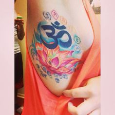 Amazing Om tattoo chakras lotus
