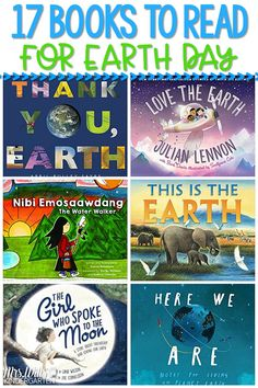 A list of 17 books to celebrate Earth Day. These children's books are sweet stories to teach kids about the importance of taking care of our Earth. Earth Day Activities, Hands On Activities, Kindergarten Activities, Book Activities, Earth Day Video, Teaching Calendar, Little Boy Names, Read Aloud Books, Love The Earth