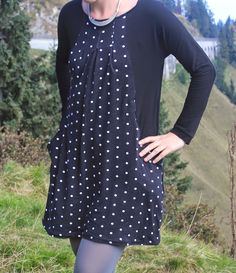 ottobre new boheme ... etwas verlängern! Polka Dot Top, Sewing Projects, High Neck Dress, Shirts, Fur, Inspiration, Clothes, Patterns, Dresses