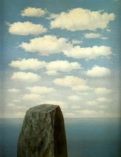 'The Origins of Language,' 1955; Rene Magritte, Belgian, 1898-1967; oil on canvas; Menil Collection, Houston, TX.
