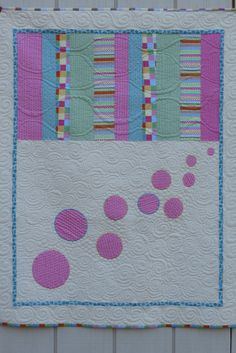 Bubbles Quilt for Young Girl or Baby by SewYouLikeIt on Etsy,