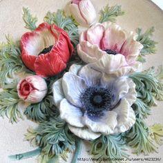Цветы из соленого теста. Обсуждение на LiveInternet - Российский Сервис Онлайн-Дневников