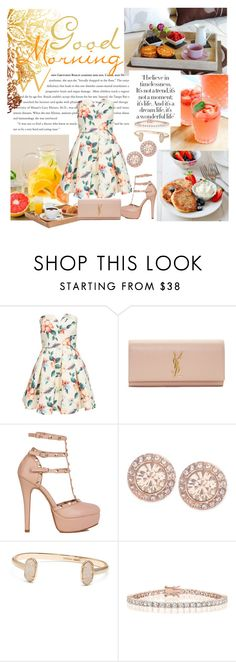 """""""Hello Morning"""" by pr-dionne ❤ liked on Polyvore featuring AX Paris, Yves Saint Laurent, Givenchy and Kendra Scott"""