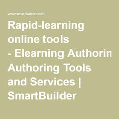 Rapid-learning online tools - Elearning Authoring Tools and Services | SmartBuilder