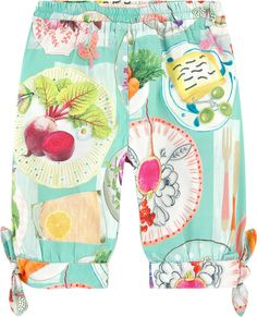 Oilily Girl carrot fit printed pants