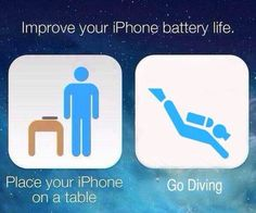 Place your iPhone on a table and Go Diving in Exotic Waterwear!