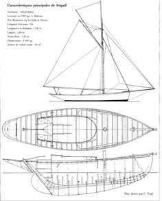 """Cutter """"Seagull"""", by Mylne. 1903. Construction plan"""