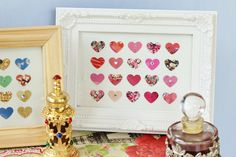 SWEETHEART Heart Art Collaged Frame Piece