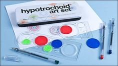 Spirograph!  Been looking for one of these!  Hypotrochoid Art Set - Gifts